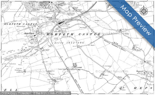 Historic Map covering Blairmuir Wood