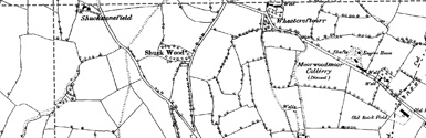 Old map of Backhill of Overhill centred on your home