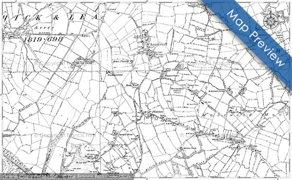 Historic map of Backhill of Overhill