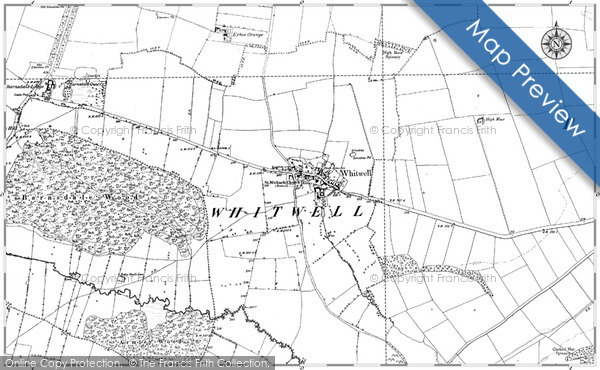 Historic Map covering Borrowmoss Burn