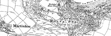 Old map of Bonhill Top centred on your home