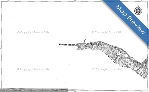 Historic map of Blow Hole
