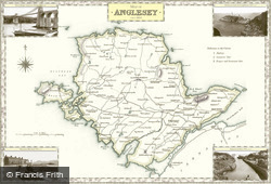 Map of Map of Anglesey