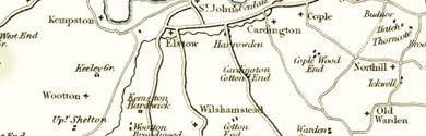 Old Map of Bedfordshire