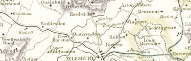 Old Map of Buckinghamshire