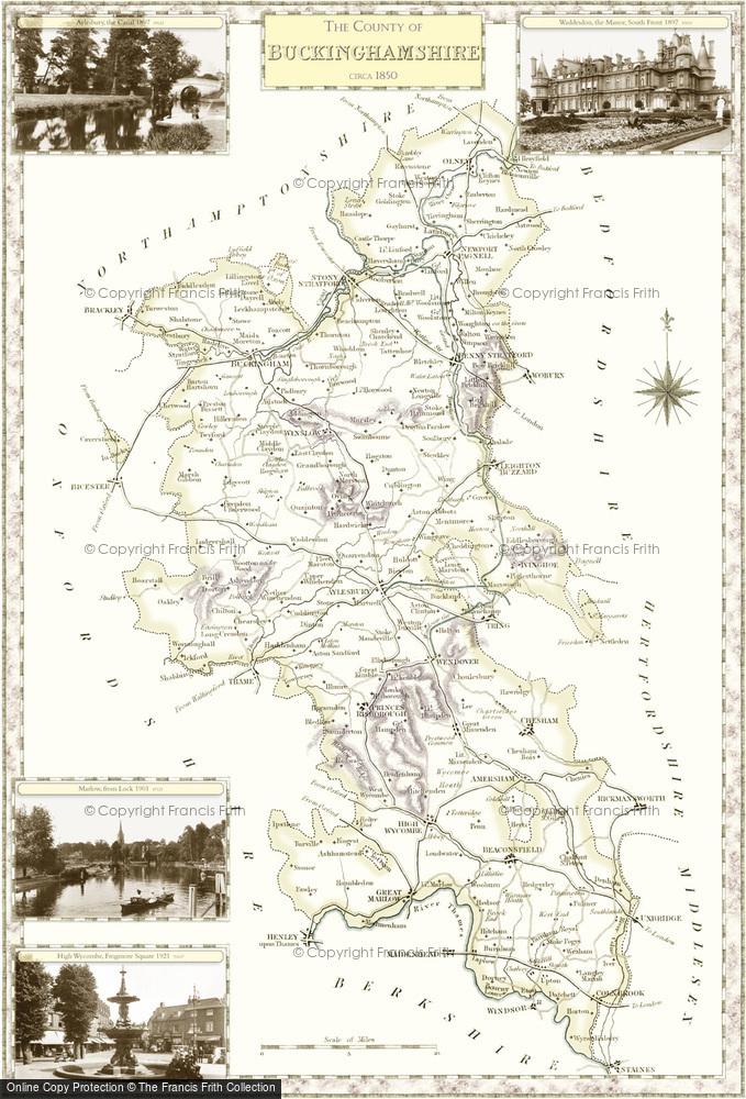 Map of Buckinghamshire