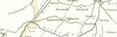 Old Map of Cambridgeshire