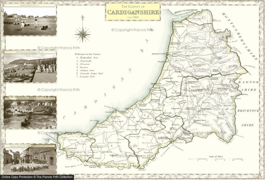 Map of Cardiganshire