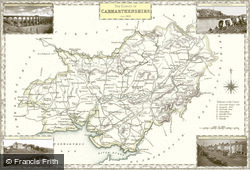 Map of Map of Carmarthenshire