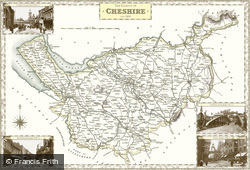Map of Map of Cheshire