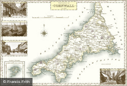 Map of Map of Cornwall