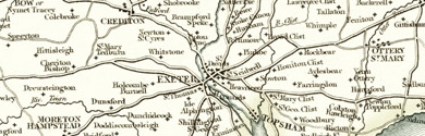 Old Map of Devonshire