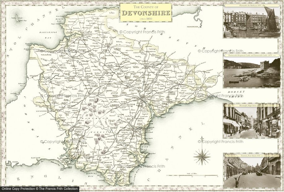 Map of Devonshire