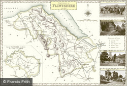 Map of Map of Flintshire