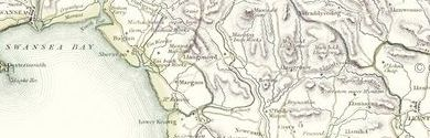 Old Map of Glamorganshire