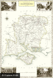 Map of Map of Hampshire