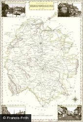 Map of Map of Herefordshire