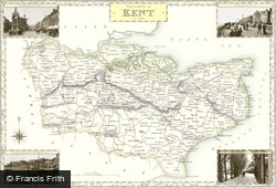 Map of Map of Kent