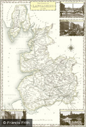 Map of Map of Lancashire