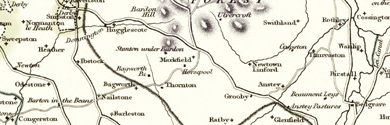 Old Map of Leicestershire