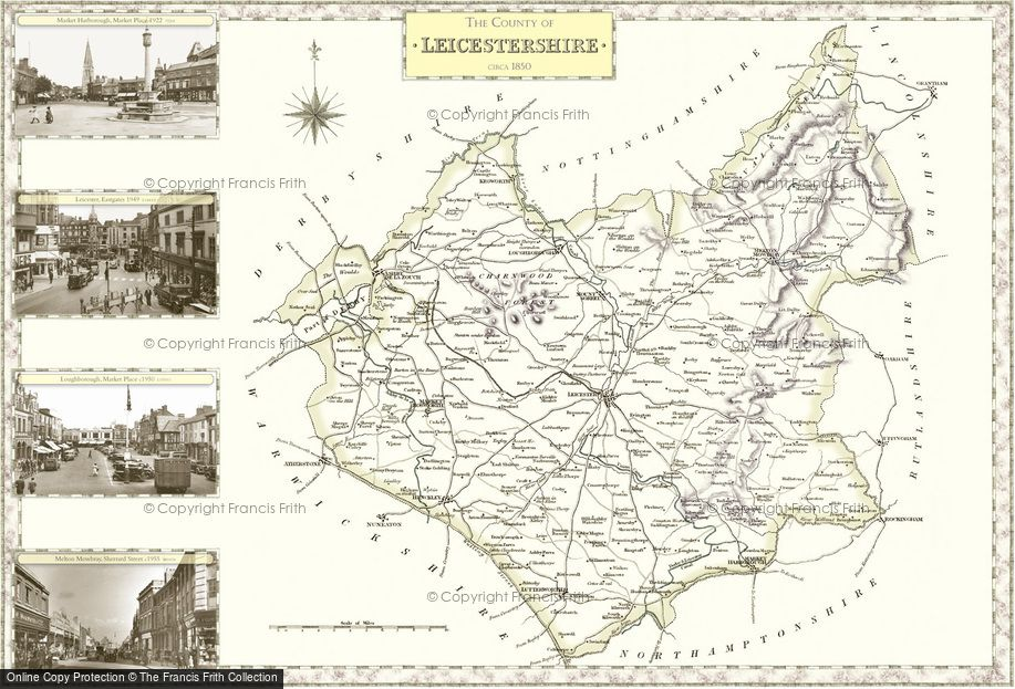 Map of Leicestershire