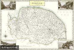 Map of Map of Norfolk