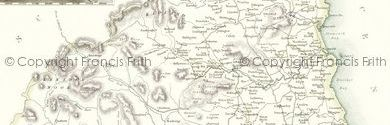 Old map of Burnt Tom Crags centred on your home