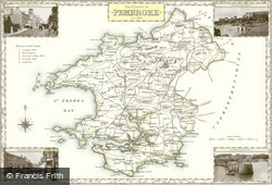 Map of Map of Pembrokeshire