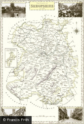 Map of Map of Shropshire
