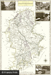 Map of Map of Staffordshire