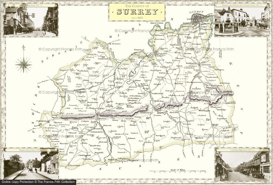 Map of Surrey