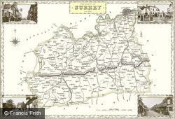 Map of Map of Surrey