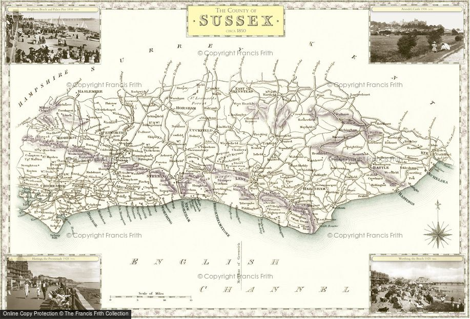 Map of Sussex