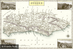 Map of Map of Sussex
