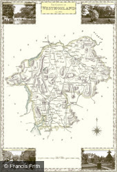 Map of Map of Westmorland