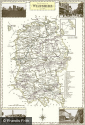 Map of Map of Wiltshire