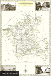Map of Map of Worcestershire