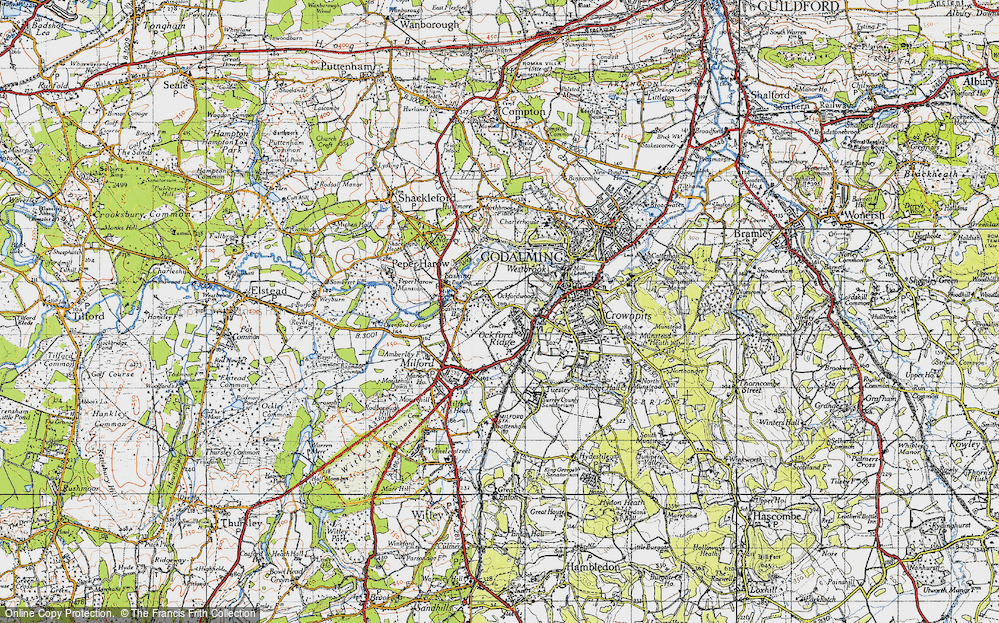 Old Map of Aaron's Hill, 1940 in 1940