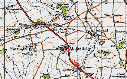 Old map of Ab Kettleby in 1946
