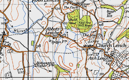 Old map of Ab Lench in 1946
