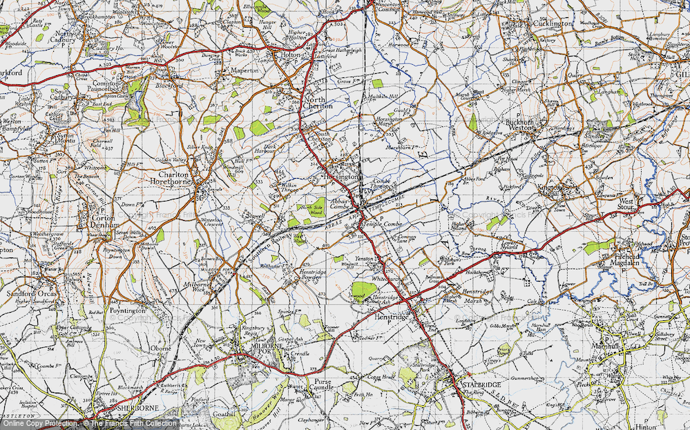 Old Map of Abbas Combe, 1945 in 1945