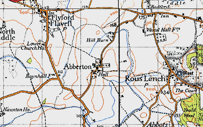 Old map of Abberton in 1946