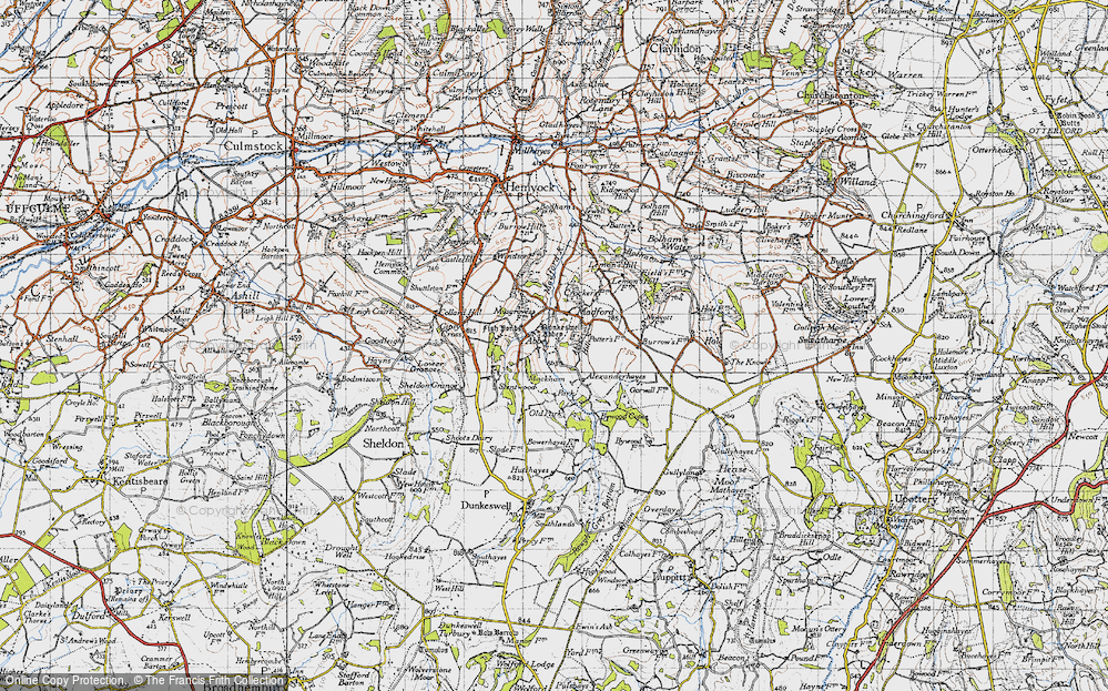 Old Map of Abbey, 1946 in 1946
