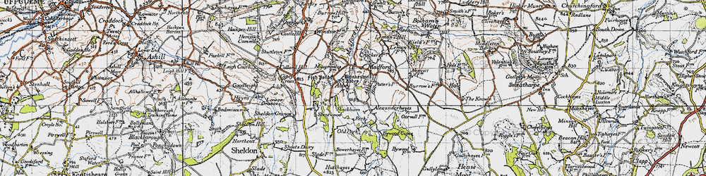 Old map of Abbey in 1946
