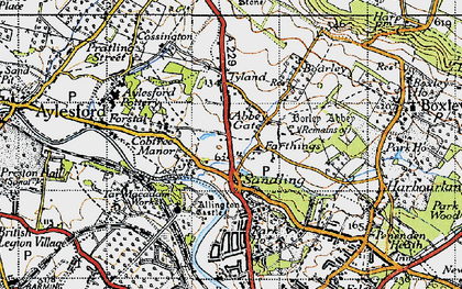 Old map of Abbey Gate in 1946