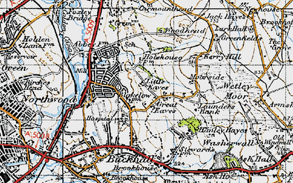 Old map of Abbey Hulton in 1946