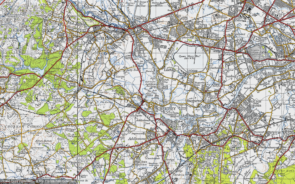 Old Map of Abbey Mead, 1940 in 1940