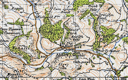 Old map of Abbeycwmhir in 1947