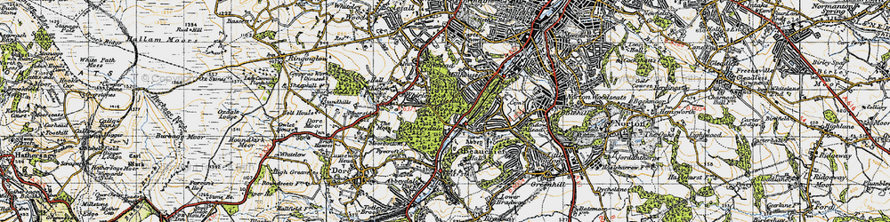 Old map of Abbeydale in 1947