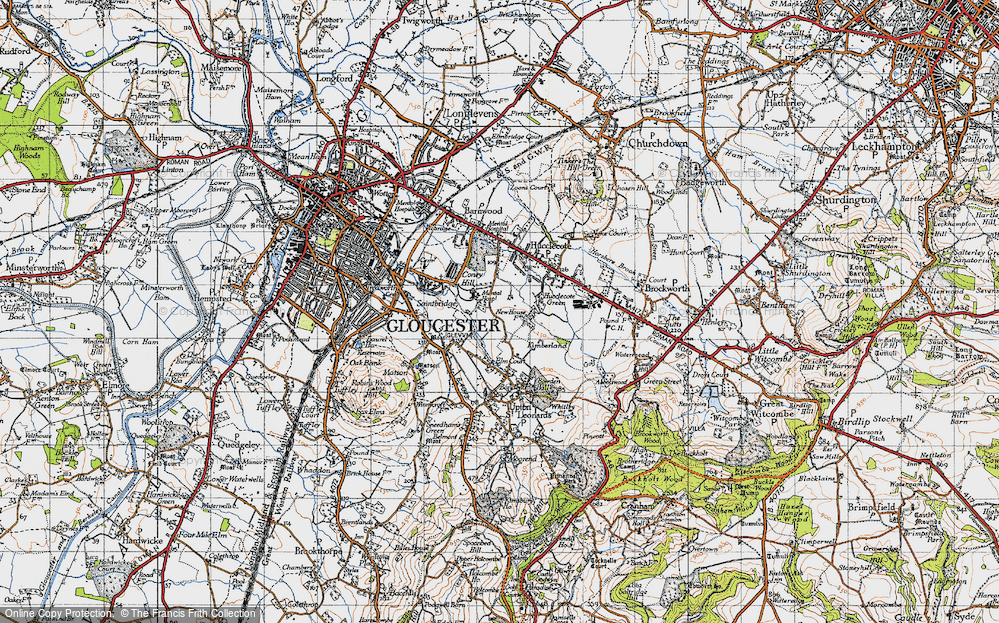Old Map of Abbeydale, 1947 in 1947